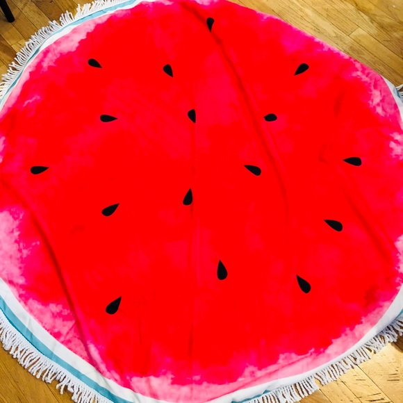 Other - NWT Large Watermelon Circular Towel/Blanket!